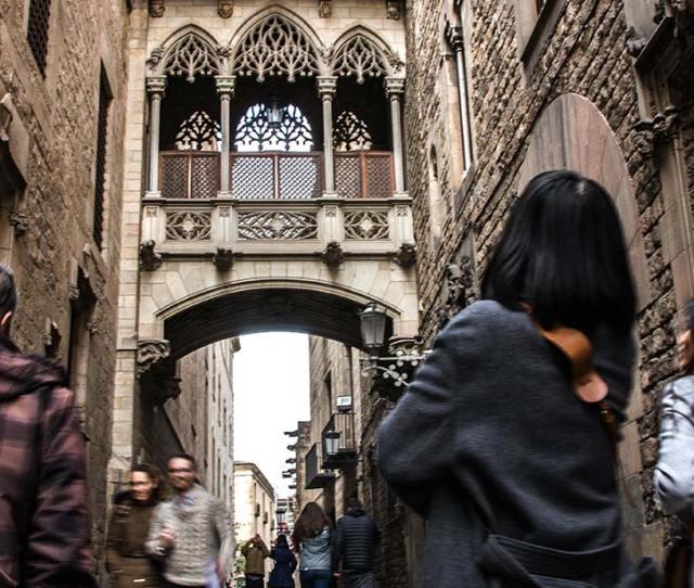 The Gothic Quarter Barcelona Bishops Bridge