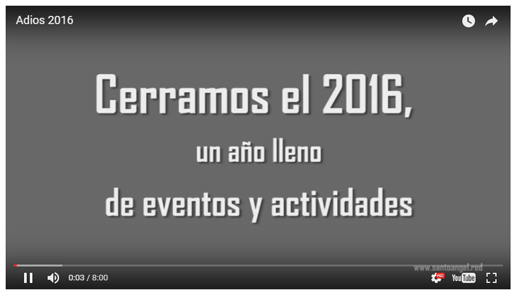 Vídeo Santo Ángel 2016