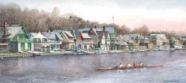 Boathouse Row 5 by N. Santoleri