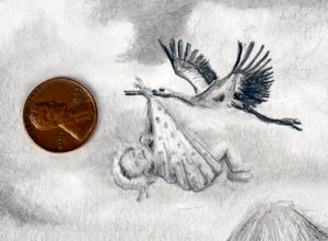 detail of stork and Fiona by Nick Santoleri