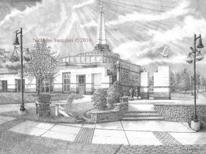 Episcopal Academy Pencil Drawing Finished