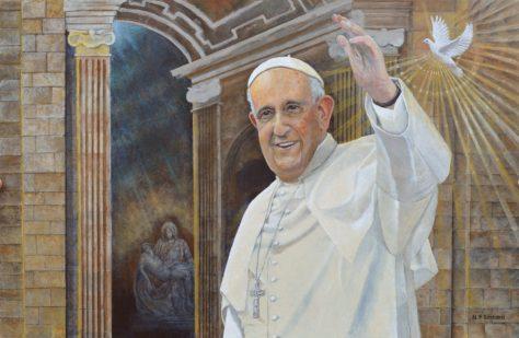 Pope Francis in Rome In Progress by Nicholas Santoleri