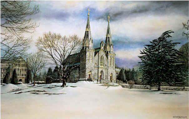 The Chapel At Villanova Nicholas Santoleri Realism Artist