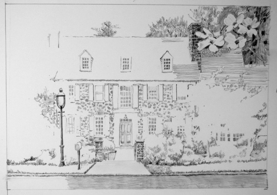 05 Another sketch of the home