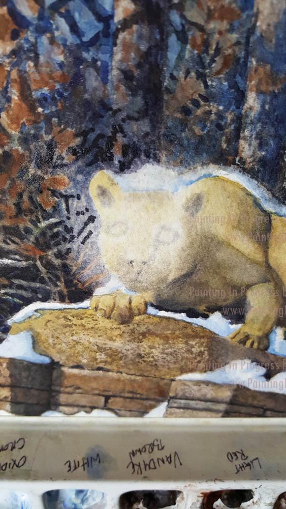 Penn State lion in progress 006 by Santoleri