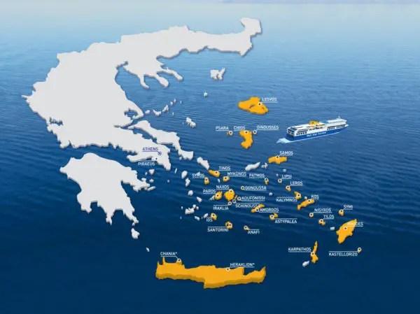 Carte Grece Bule Star Ferry