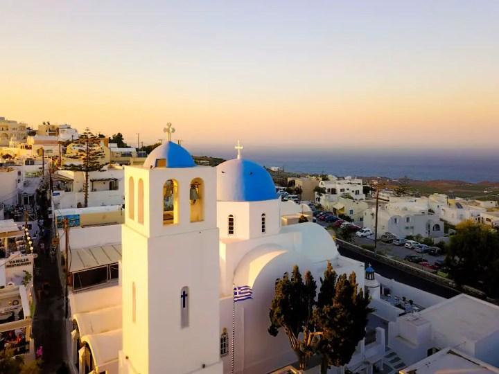Coucher de soleil Eglise Santorini