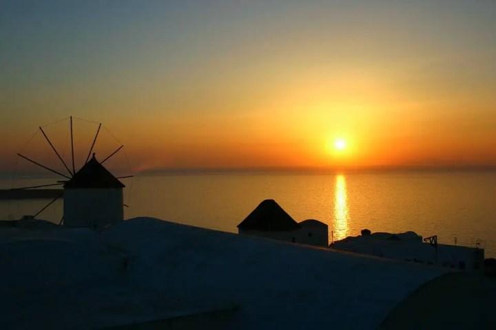 Couche de soleil Santorin