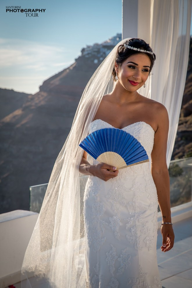 santorini bridal photography