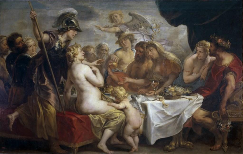 A Maçã Dourada da Discórdia por Jacob Jordaens em 1633