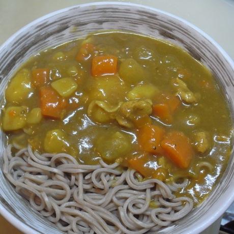 カレーうどん with パクチー