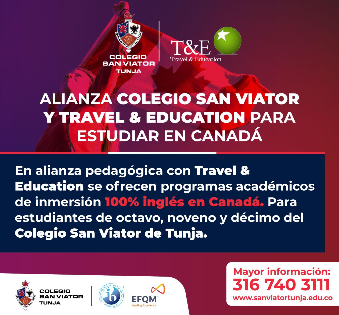 Alianza pedagógica en programas de inmersión 100% inglés en Canadá