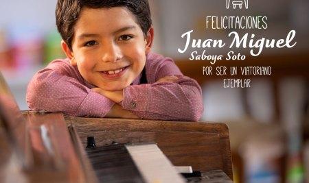 Juan Miguel Saboya Soto, el pianista de 8 años ejemplo Viatoriano