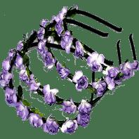 paper flower alice band purple