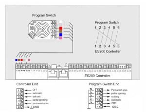 ES200 Wiring Diagram (Connection Scheme)