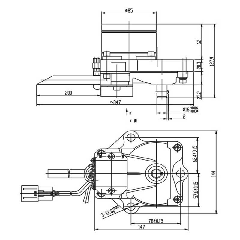 PC200-6 Throttle Motor 7834-40-2000-SANYOU PARTS