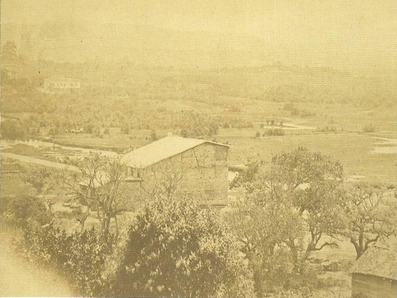 Área onde foi construída a estação da Luz em 1865.