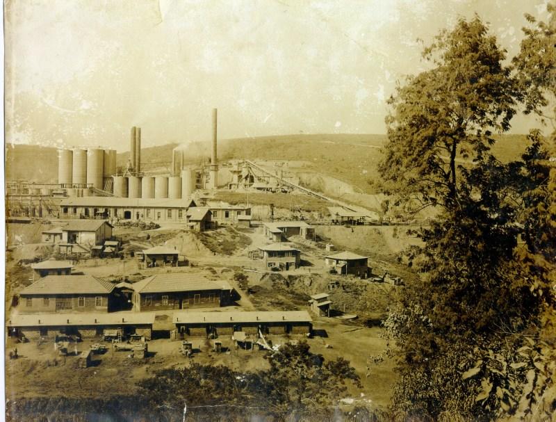 Fábrica de Cimento de Perus, em um registro sem data. Imagem de Nelson Barbosa