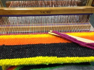 Kitchen rug on loom