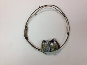 Pair Owl hanging