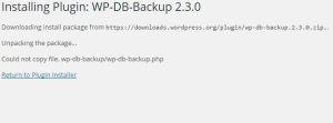 Plugin installation error could not copy file