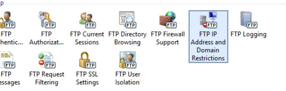 IIS FTP IP Address and Domain Restrictions
