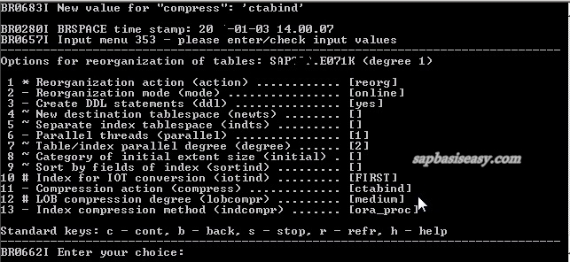 Table / index compression