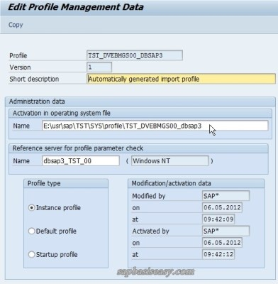 Extended Profile Maintenance in Administration Data
