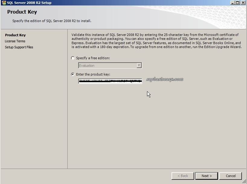 sql server management studio 2008 r2 product key