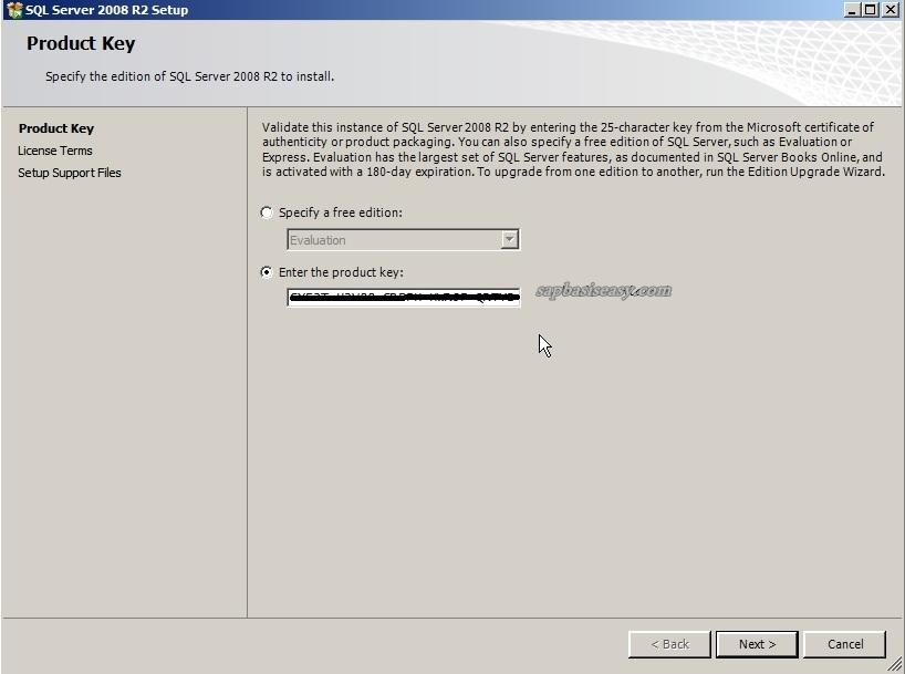 How to install SQL Server 2008 R2 for SAP - SAP Basis Easy