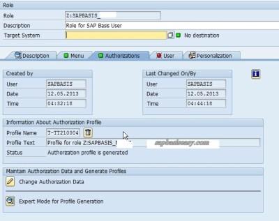 SAP Single Role creation