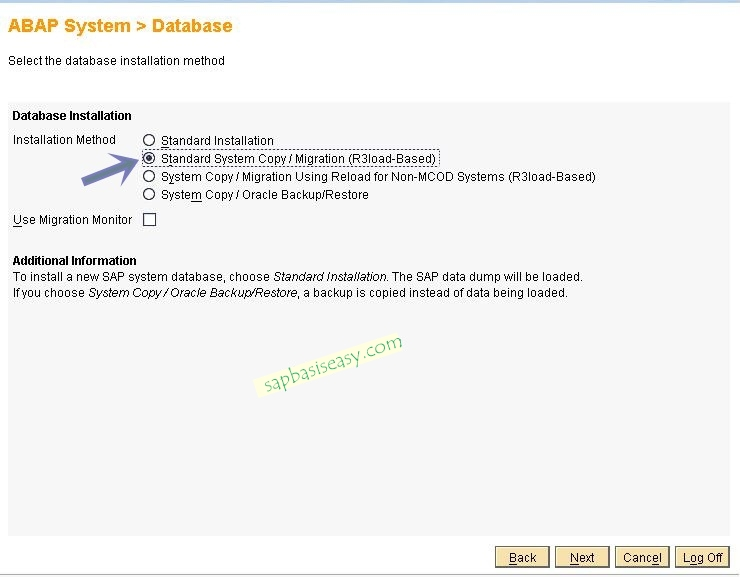 standar SAP System Copy migration