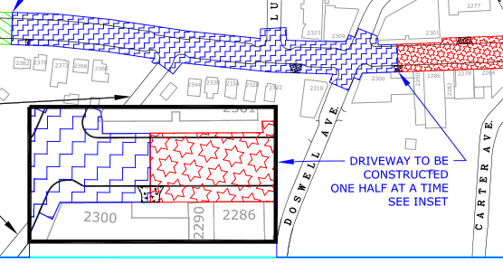 Map showing Phase 2 of Como construction