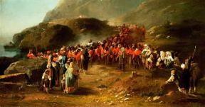 Italia . Garibaldi sull'Aspromonte in un dipinto del sec. XIX (Torino, Museo del Risorgimento).De Agostini Picture Library/A. De Gregorio