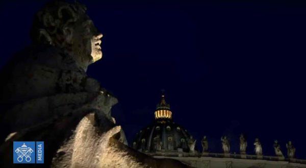 Uno scorcio della basilica di San Pietro