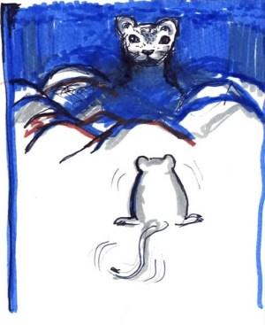 Il gatto delle sabbie (disegno senza firma)