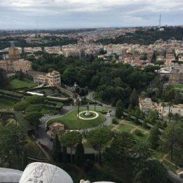 Vista sui giardini Vaticani
