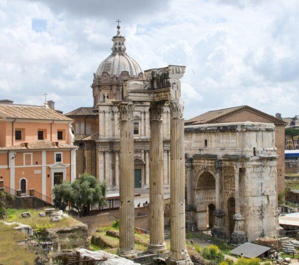 Una veduta di Roma antica