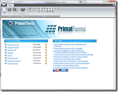 PrimalForms CE Startpage