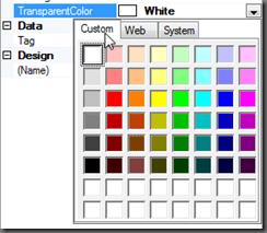 Custom Color Tab