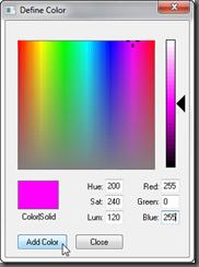 Define Color Dialog