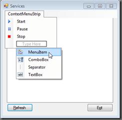 Edit ContextMenu in Designer