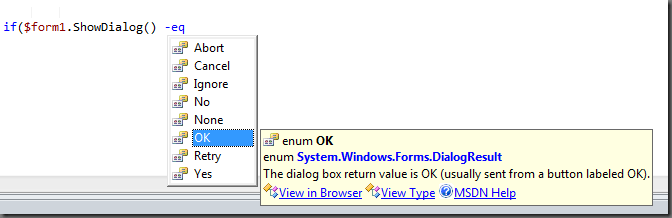 Enumerator Code Completion