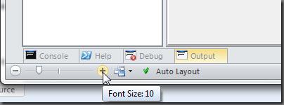 Font Size Slider