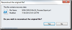 Reconstruct File