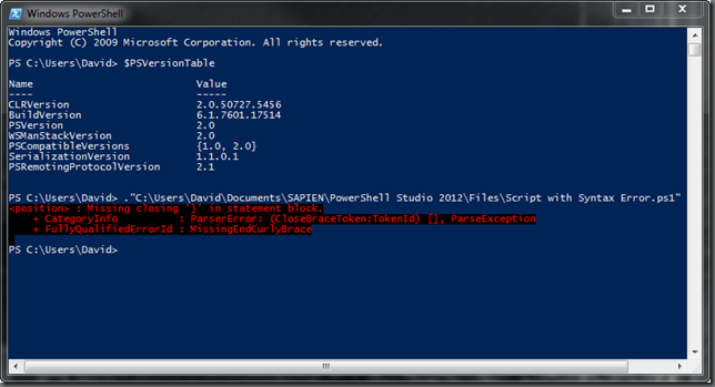 PowerShell V2 Console