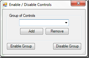 GroupBox of Controls
