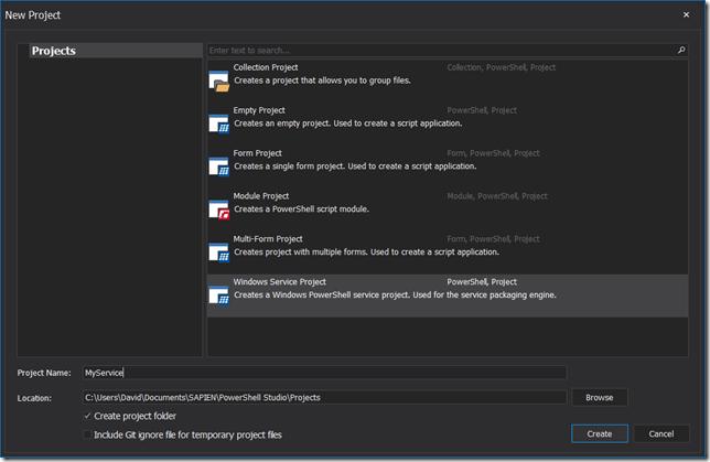 Windows Service Project Template
