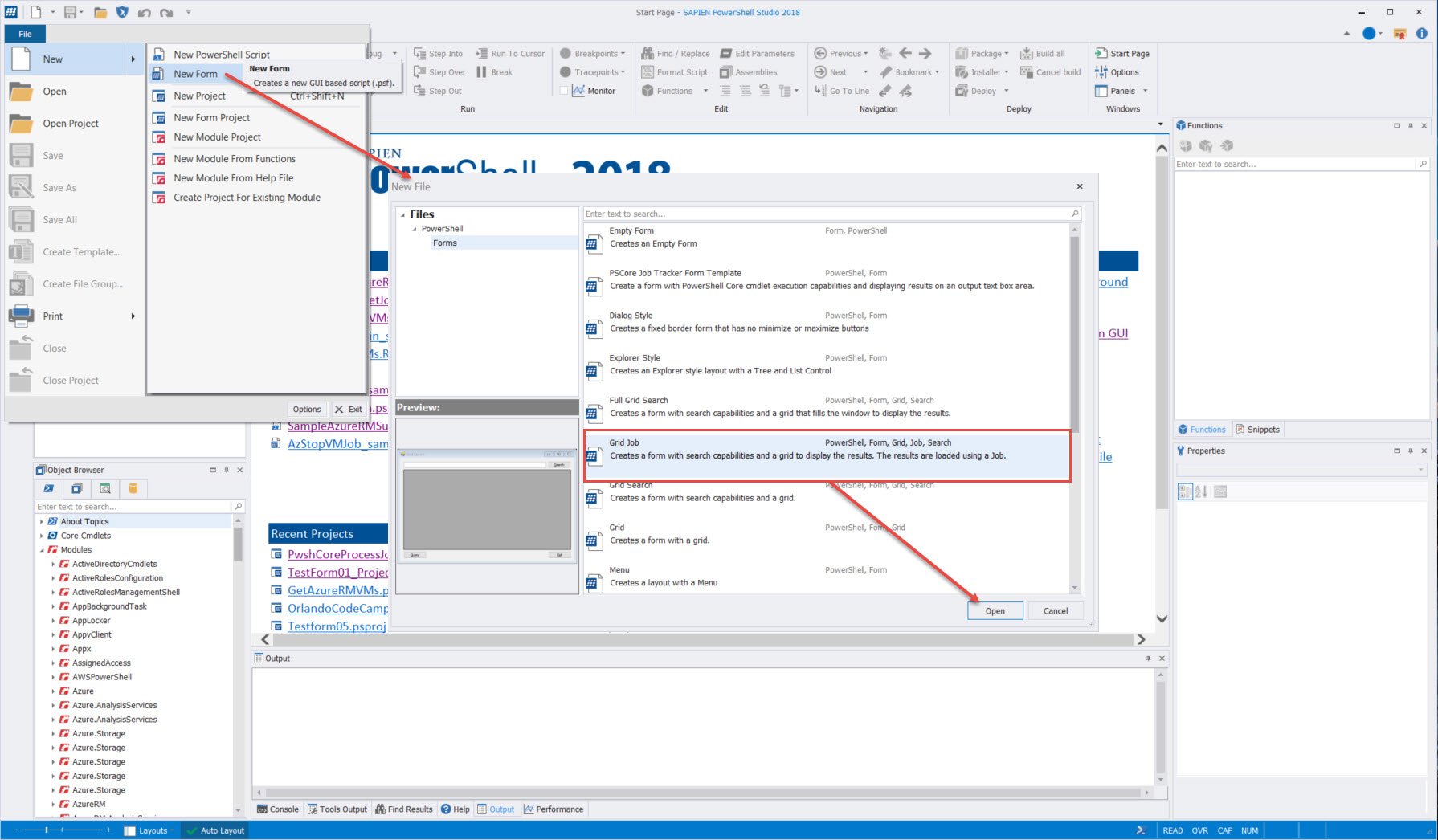 Powershell Studio Azure Background Jobs In Gui Application With