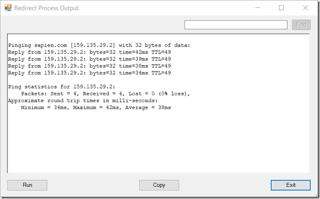 Redirect Output Example